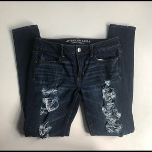 American Eagle 360 Stretch Distressed Jegging